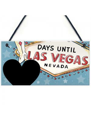 CHALKBOARD Countdown To Holiday Sign Vegas Countdown Plaque