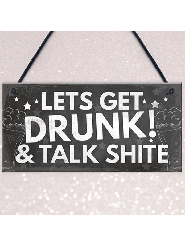 FUNNY Bar Sign Garden Signs Home Bar Sign Alcohol Gift Man Cave