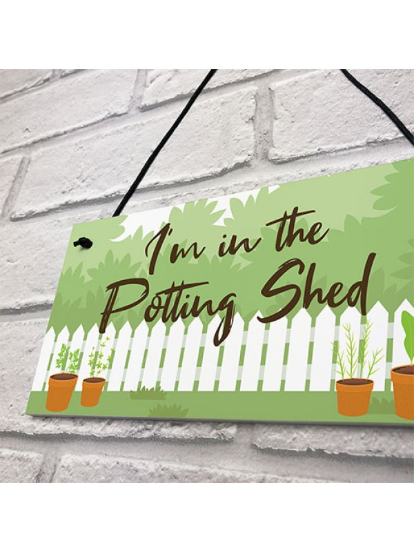 Novelty Garden Sign Potting Shed Garden Signs And Plaques