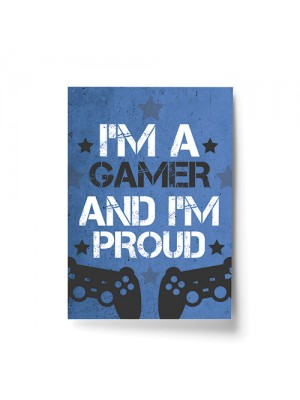Blue Gaming Prints Games Room Boys Bedroom Decor Gift For Son
