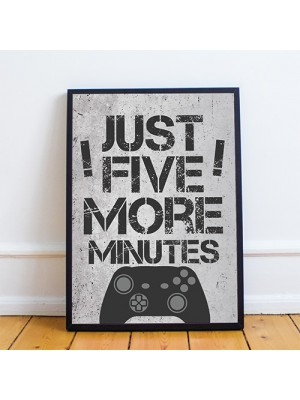 FRAMED Gaming Print For Boys Bedroom Man Cave Sign Gamer Gift
