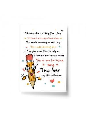 Teacher Teaching Assistant Thank You Gifts Teacher Poem Gifts