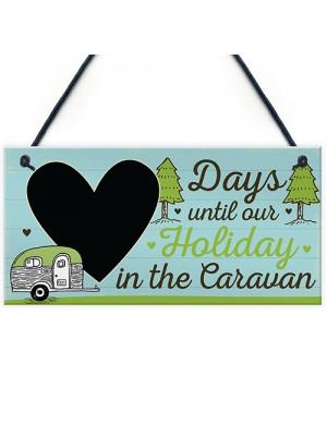 CHALKBOARD Countdown To Caravan Holiday Caravan Sign Funny