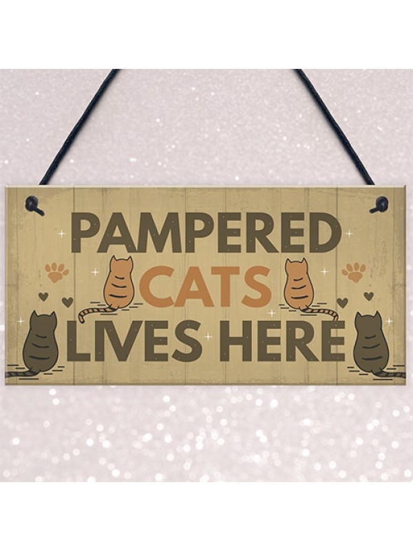 Funny Cat Sign For Home Sign For Gate Pet Sign Funny Cat Gift