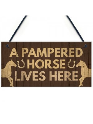 Horse Gifts For Women Horse Signs Funny Stable Gate Sign