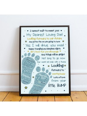 Fathers Day Gifts Daddy To Be Gifts From The Bump Baby Poem Gift