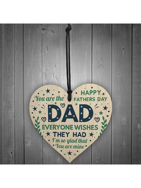Fathers Day Gift For Dad Funny Dad Card From Daughter Son Heart