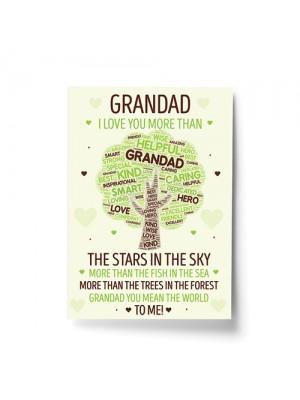 Grandad Print Grandad Birthday Christmas Gift From Grandchild