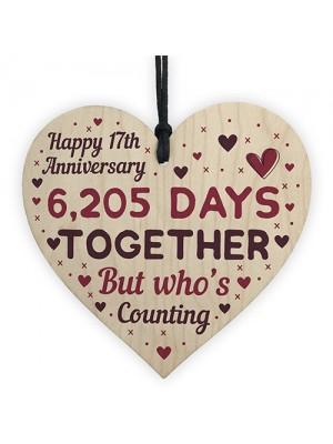 Handmade Wood Heart Gift To Celebrate 17th Wedding Anniversary