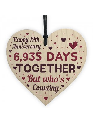 Handmade Wood Heart Gift To Celebrate 19th Wedding Anniversary