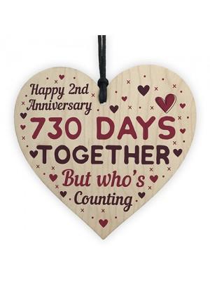 Handmade Wood Heart Gift To Celebrate 2nd Wedding Anniversary