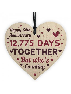 Handmade Wood Heart Gift To Celebrate 35th Anniversary Gifts
