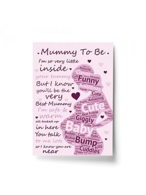 Mummy To Be Print New Mummy Gift Baby Shower Gift Mum To Be