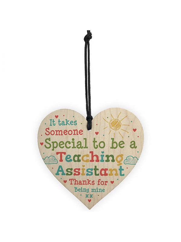 Teacher Gifts Wooden Heart School Nursery Pre School Leaving