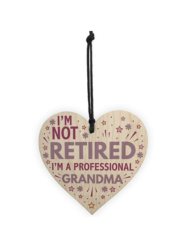 GRANDMA Gift Wooden Heart Plaque Grandma Birthday Xmas Gift