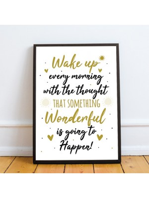 Inspirational Motivational Positive Quote Framed Print Birthday