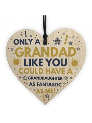 Funny Grandad Birthday Christmas Gift From Granddaughter Plaque