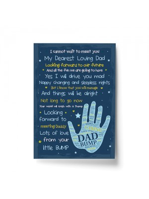 Daddy To Be Gifts From The Bump Baby Poem New Daddy Gift