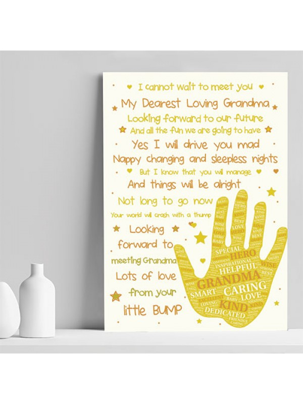 Grandma To Be Baby Shower Gifts From The Bump Baby Poem Gifts