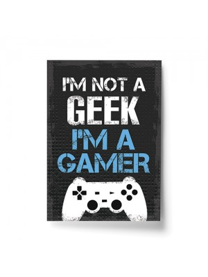 Not A Geek Funny Gamer Gift Gaming Sign For Boy Bedroom Wall Art