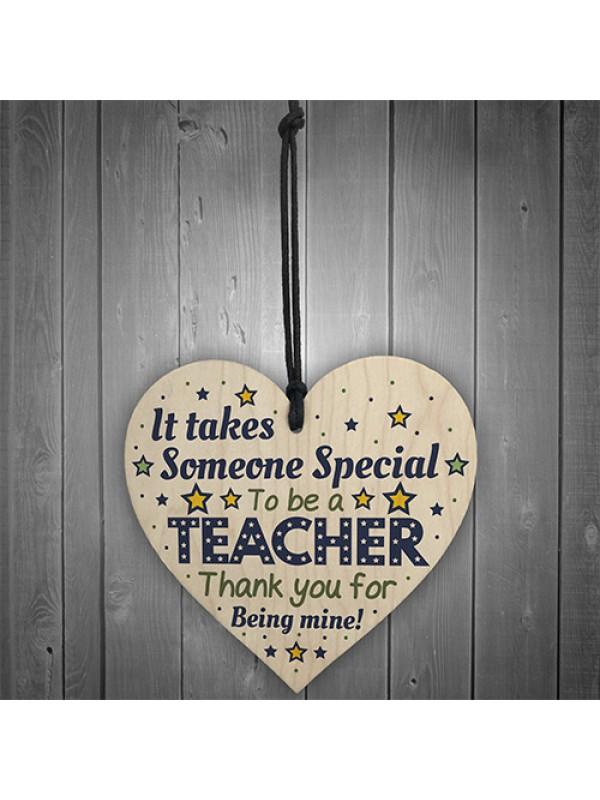 Special Teacher Gifts Teacher Thank You Wooden Heart
