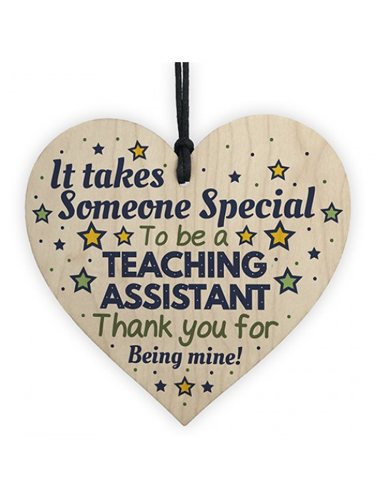 Special Teaching Assistant Teacher Gifts Thank You Wood Heart