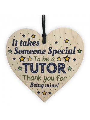 Special Tutor Mentor Teacher Gifts Thank You Wooden Heart
