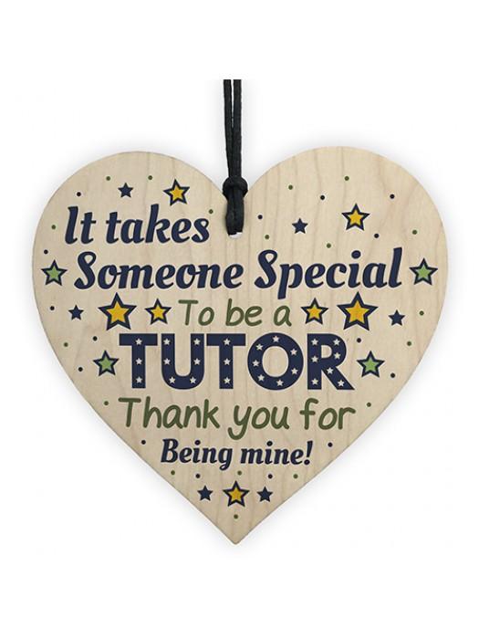 Special Tutor Mentor Teacher Gifts Thank You Wooden Heart