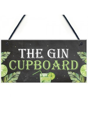 Funny Alcohol Sign Gin Gifts Man Cave Home Bar Pub Plaque