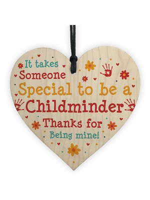 Thank You Childminder Gifts Wood Heart Leaving Gift Babysitter