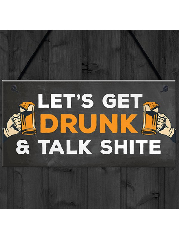 Funny Bar Sign Man Cave Pub Home Bar Garden Sign Alcohol Gift