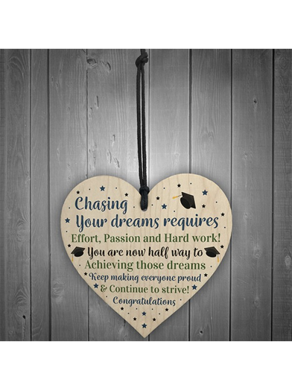 Congratulations Graduation Gifts Wooden Heart Gift For Daughter