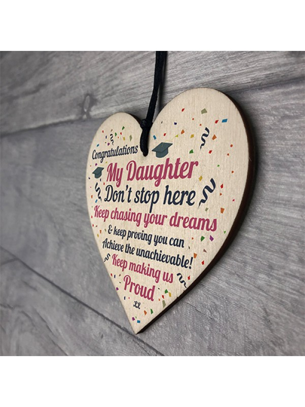 Graduation Gifts For Daughter Wooden Heart Sign Congratulations