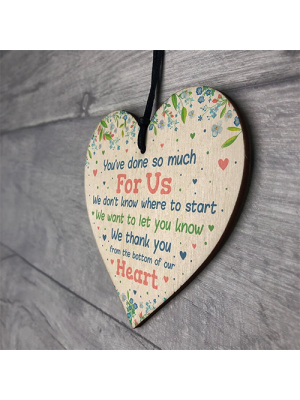 Thank You Gift Wood Heart For Teacher Assistant Nursery Gifts