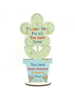 Thankyou Gift For Nursery Teacher And Assistant Wood Flower