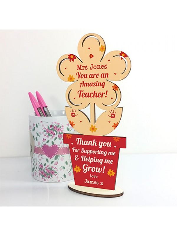 Personalised Teacher Gifts Thank You School Nursery Pre School