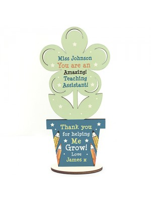 Personalised Teacher Assistant Gifts Thank You Flower School