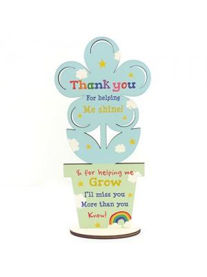 Thank You Wooden Flower Gift For Teacher And Assistant Leaving