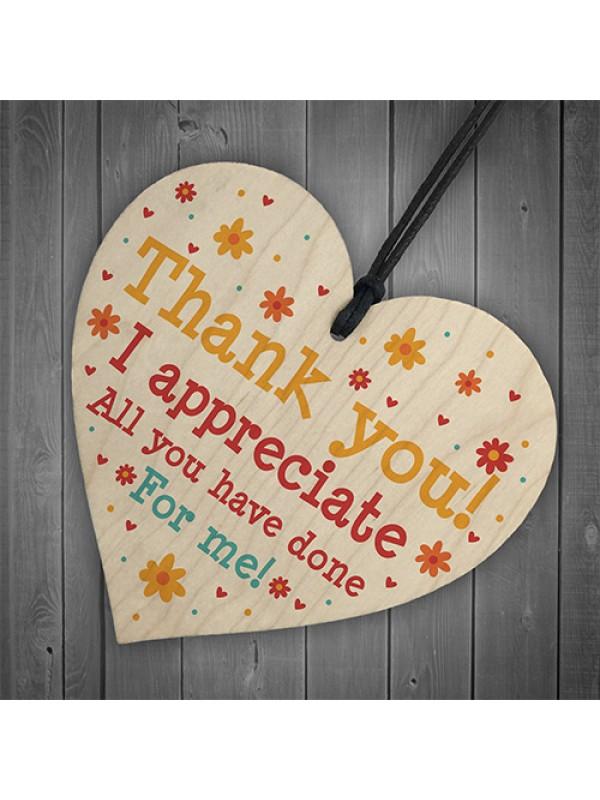 Thank You Leaving Gift For Teacher Assistant Nursery Tutor Heart