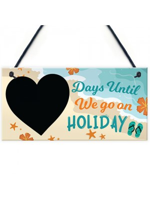 Chalkboard Days Until Holiday Countdown Plaque Novelty Holiday