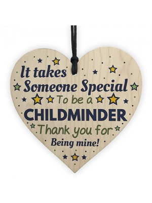 Childminder Gifts Thank You Wooden Heart Leaving School Nursery