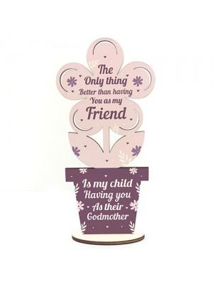 Best Friend Godmother Thank You Gift Godparent Love Friendship