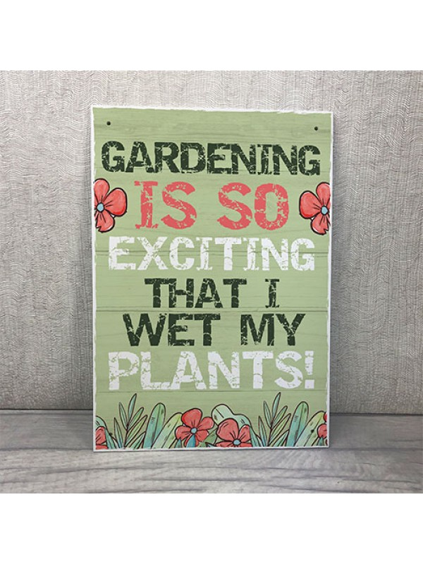 Funny Garden Sign Hanging Summer House Plaque Summer House Gift