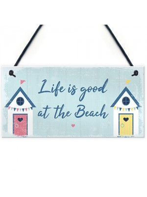 Beach Sign Nautical Theme Hanging Plaque Hot Tub Garden Sign