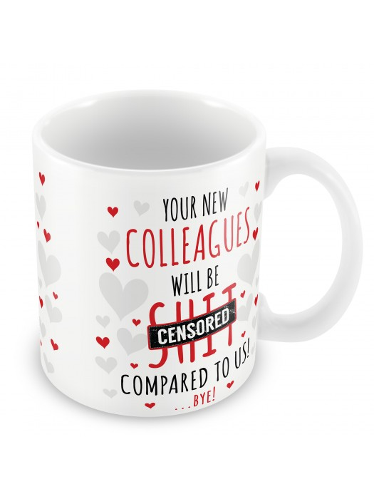 Funny Rude Colleague Leaving Gift Mug Good Luck Coworker