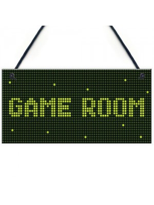 Game Room Sign Gamer Gift Boys Bedroom Decor Man Cave Sign