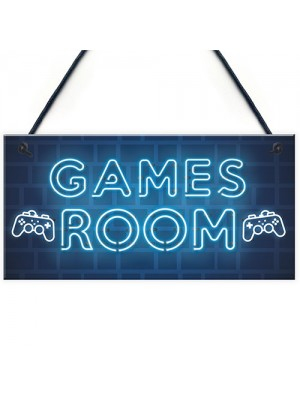 Gamer Gift Gaming Sign Man Cave Boys Bedroom Decor Boys Bedroom