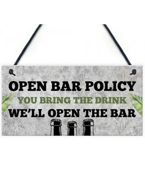 Novelty Home Bar Sign Alcohol Gift Gin Vodka Beer Gift Man Cave