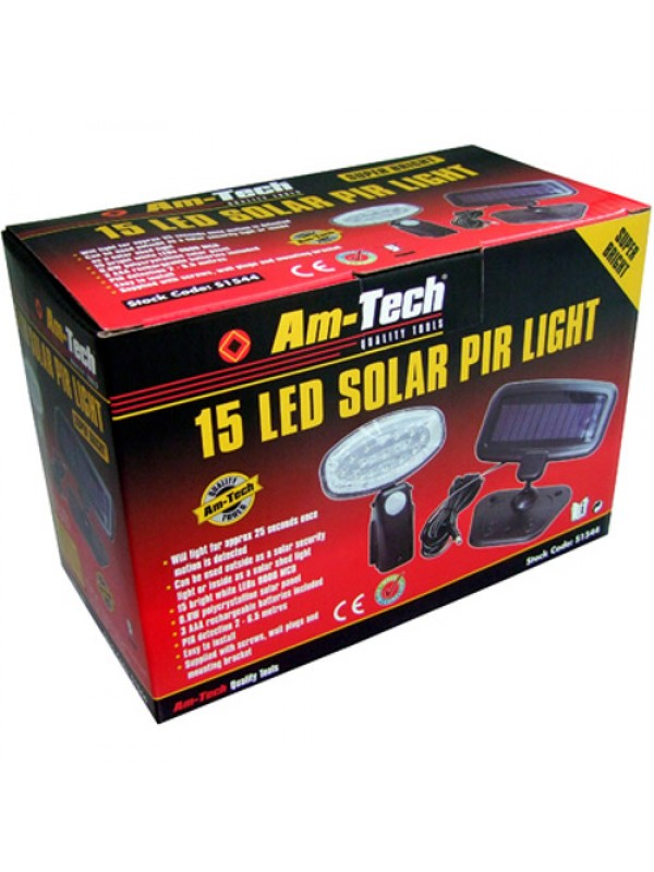 15 LED Solar PIR Security Motion Activated Light