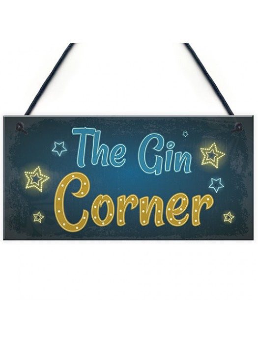 Gin Corner Gin Signs And Plaques Bar Pub Man Cave Accessories